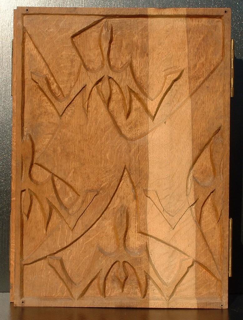 Triptyque 1984 bas relief en trois volets 30x40