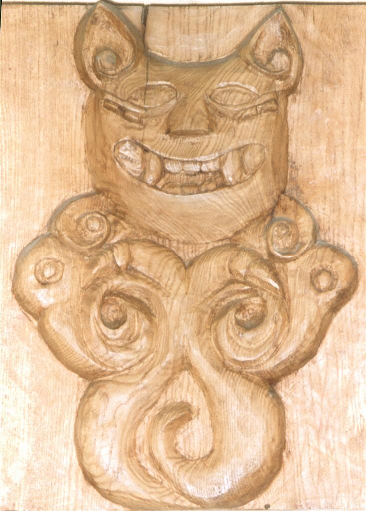 Monstre scythe 1989 bas relief 35x35