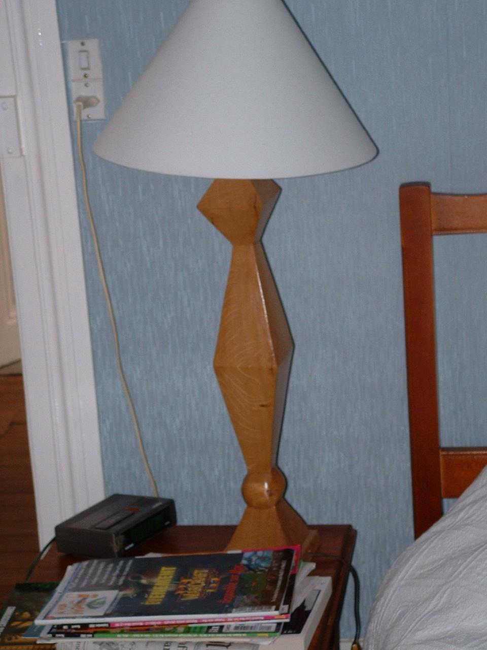 Pied de lampe 2006 70x15