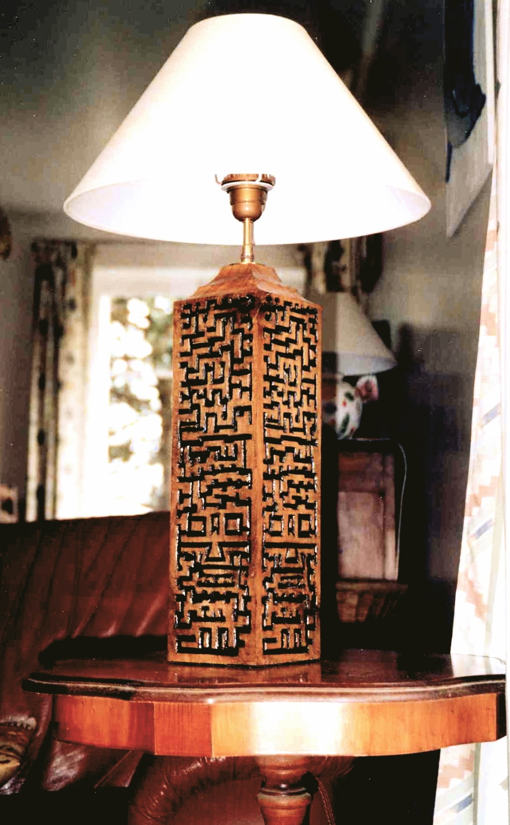 Pied de lampe 2006 60x15