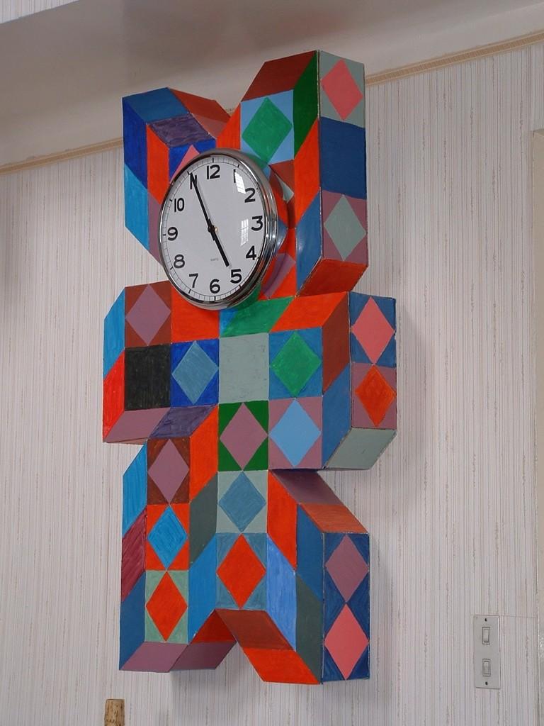 Fond d'horloge Vasarely 2006 150x60