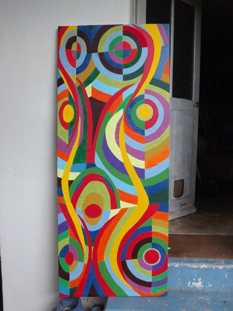 Porte peinte 2014 170x65
