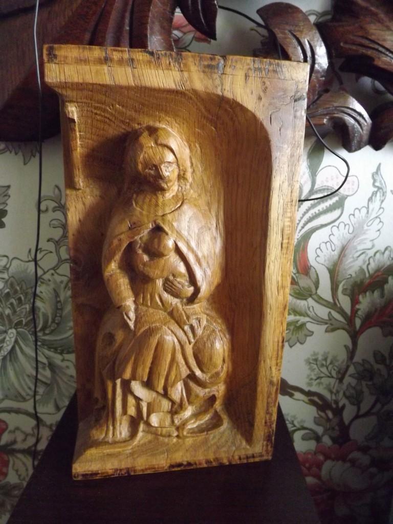 Petite vierge a l'enfant 2005 25x12x8