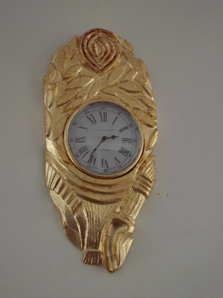 Horloge dorée 2015 50x25x5